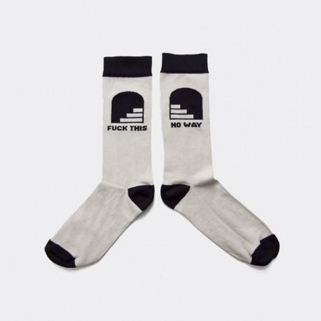 The Dudes - No Way Socks Beige