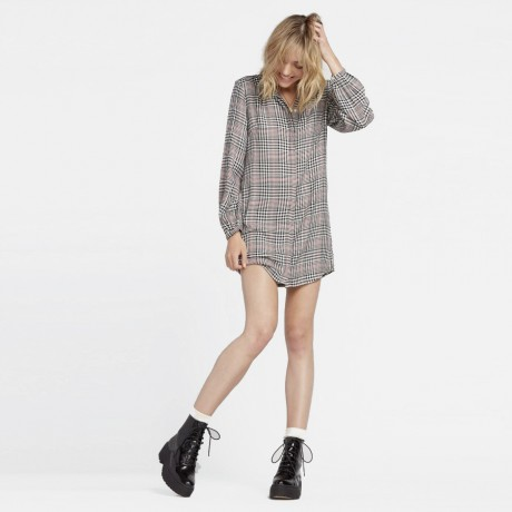 Volcom - FAD FRIEND DRESS BLACK PLAID