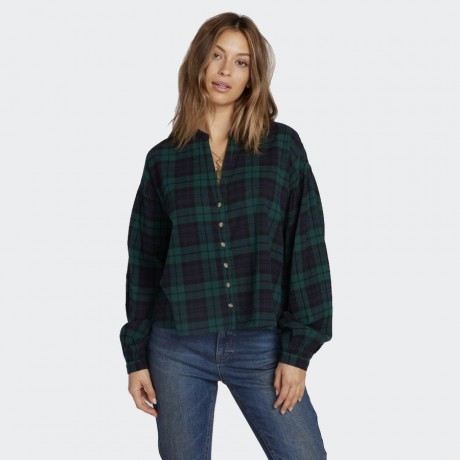 Volcom - UNTAMED FEELS TOP SHIRT GREEN