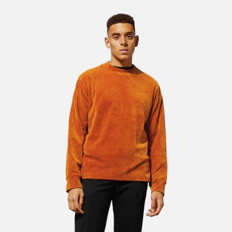 Weekday - Score Velvet Sweatshirt Orange