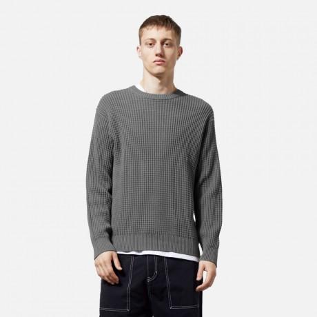 Weekday - Smyth Waffle Sweater Grey