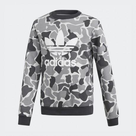 adidas originals - Camo Trefoil Crew Sweatshirt
