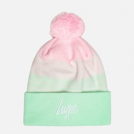 Just Hype - MULTI SPECKLE FADE SCRIPT BOBBLE BEANIE
