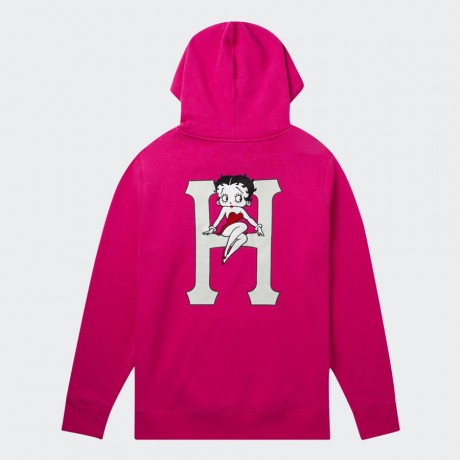 HUF x BETTY BOOP CLASSIC H PULLOVER HOODIE HOT PINK