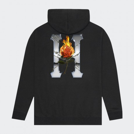 HUF - EMBER ROSE CLASSIC H PULLOVER HOODIE BLACK