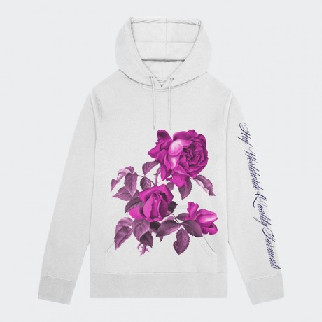 HUF - LE FLEUR PULLOVER HOODIE WHITE