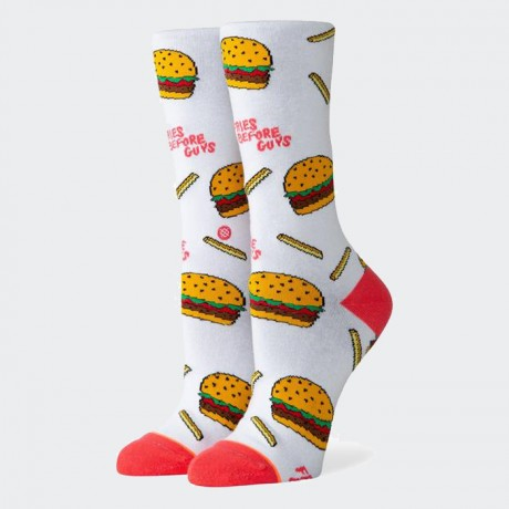 STANCE - FRIES B4 GUYS CREW WHITE