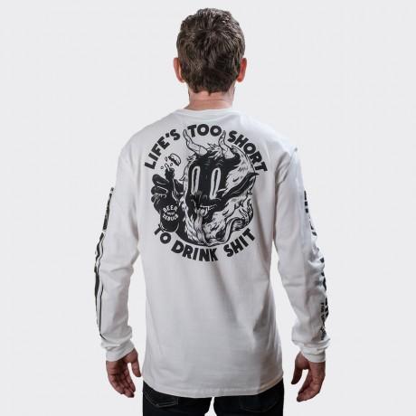 The Dudes - Too Short Drinks Longsleeve T-shirt White