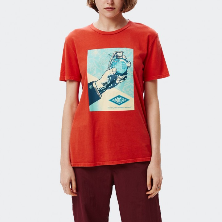 OBEY - ROYAL TREATMENT CLASSIC TEE POPPY