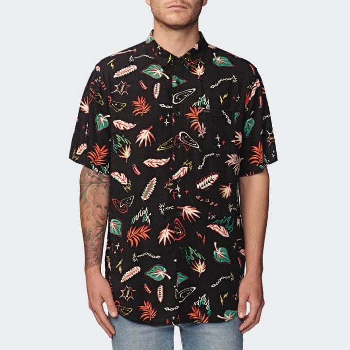 GLOBE - Psychotropics SS Shirt Washed Black