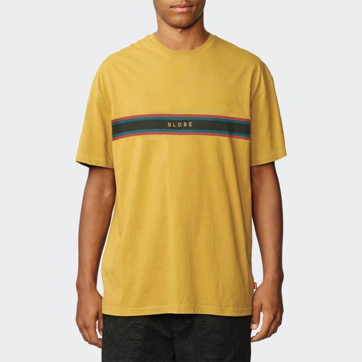 GLOBE - Break Point Tee Mustard Yellow
