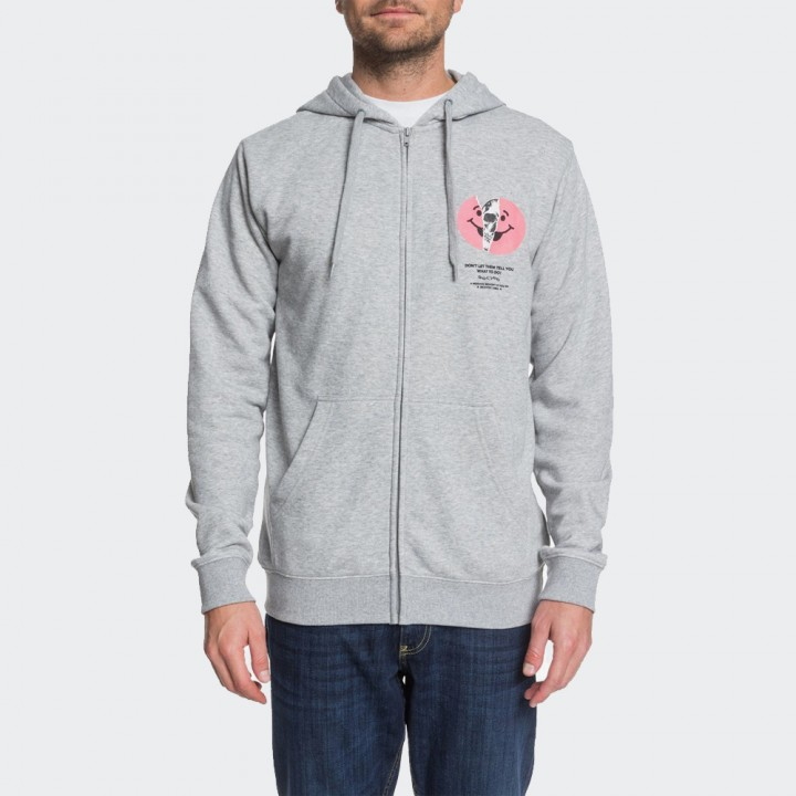 DC - DON'T LET THEM TELL YOU ZIP-UP HOODIE GREY HEATHER