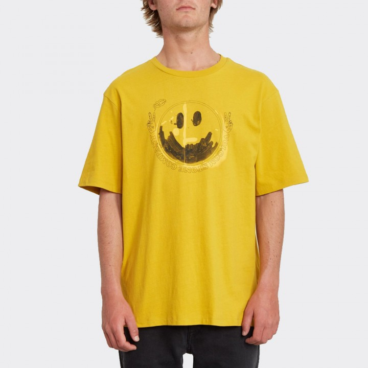 Volcom - FAKE SMILE T-SHIRT GOLD