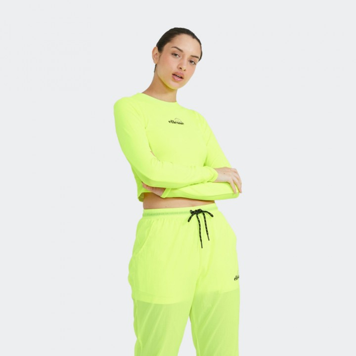 Ellesse x Smiley - Matera Cropped T-shirt Neon Yellow