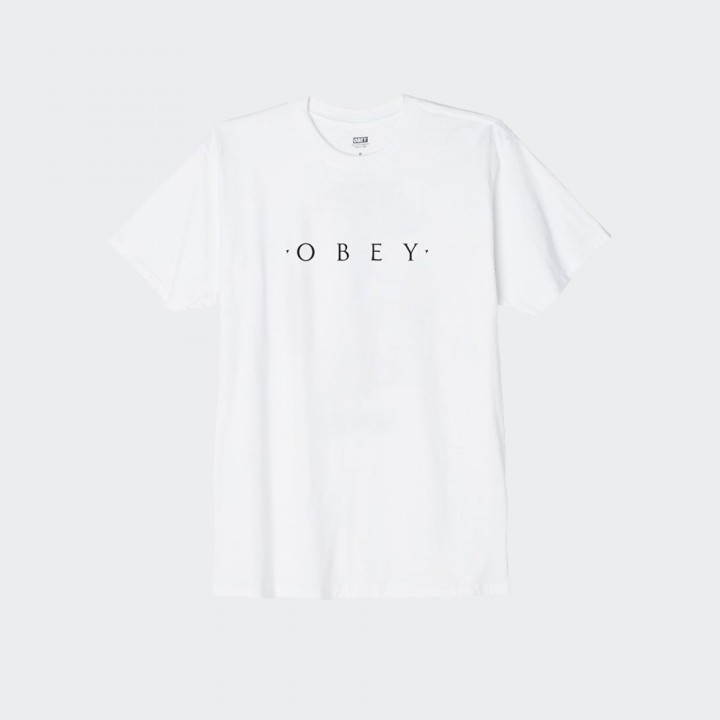 OBEY - NOVEL OBEY CLASSIC TEE WHITE