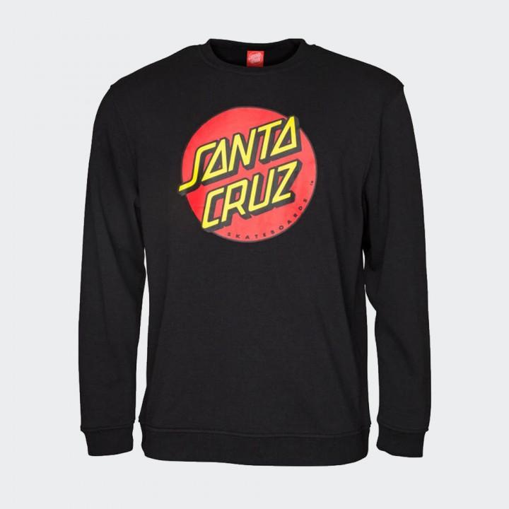 Santa Cruz - Classic Dot Crew Black