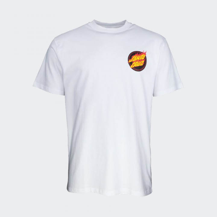 Santa Cruz - Flaming Japanese Dot T-Shirt White