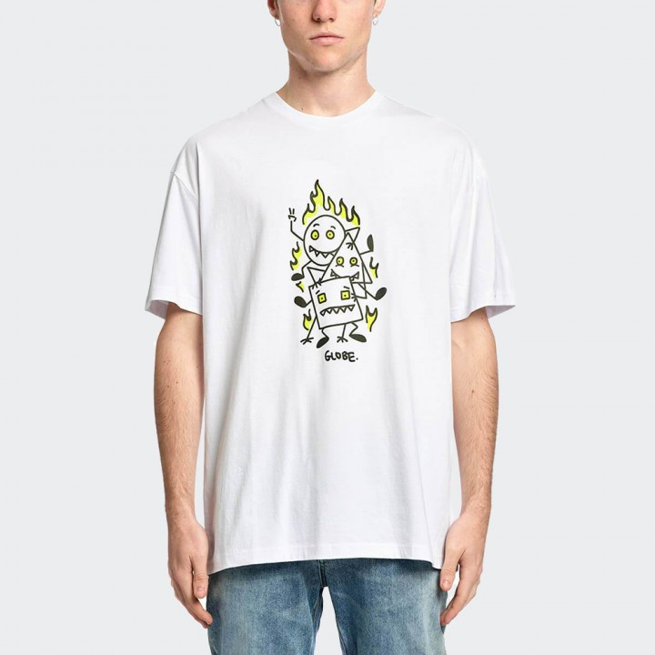 GLOBE - Appleyard Stacker Tee White