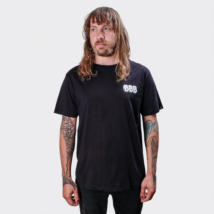 The Dudes - Bulleit, Beer & Burger Tee Black