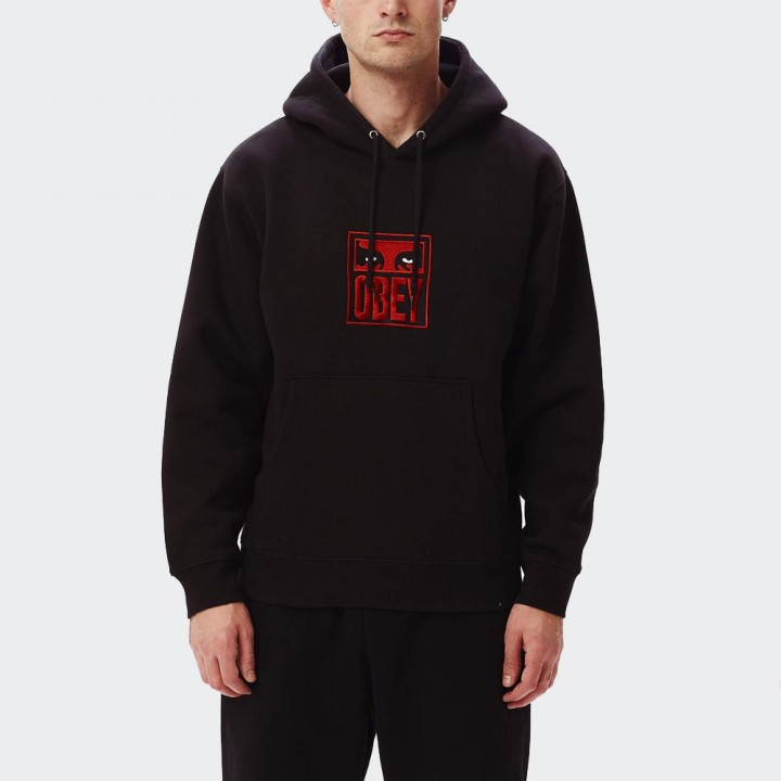 OBEY - STACK HOOD FLEECE BLACK