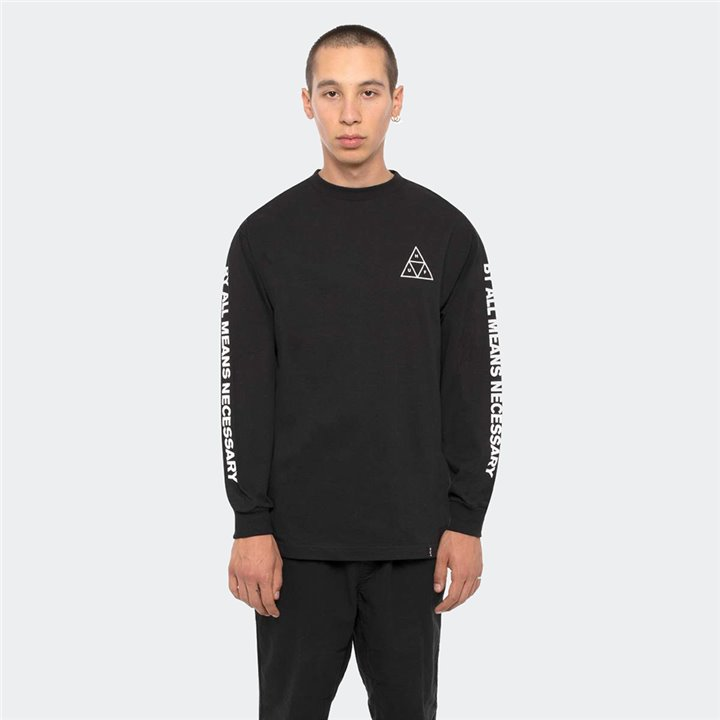 HUF - TRIPLE TRIANGLE LONG SLEEVE TEE BLACK